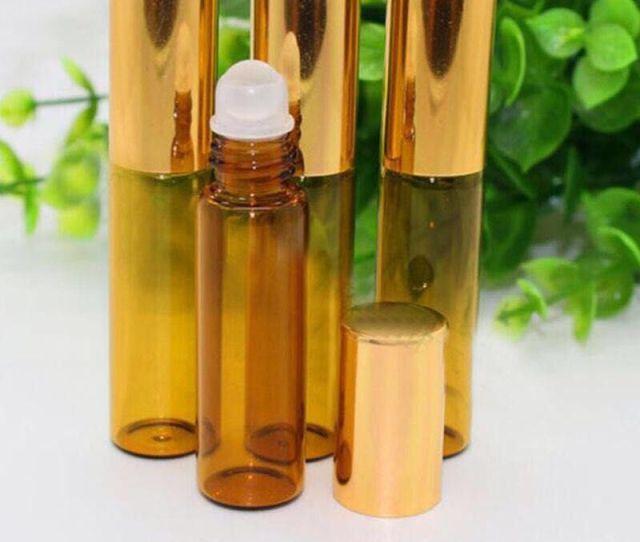 Factory Price Amber Roller Ball Essential Oil Perfume Bottles Ml Roll On Glass Bottles For Perfume Essential Oil Bottles Empty Oil Bottles Glass E Liquid