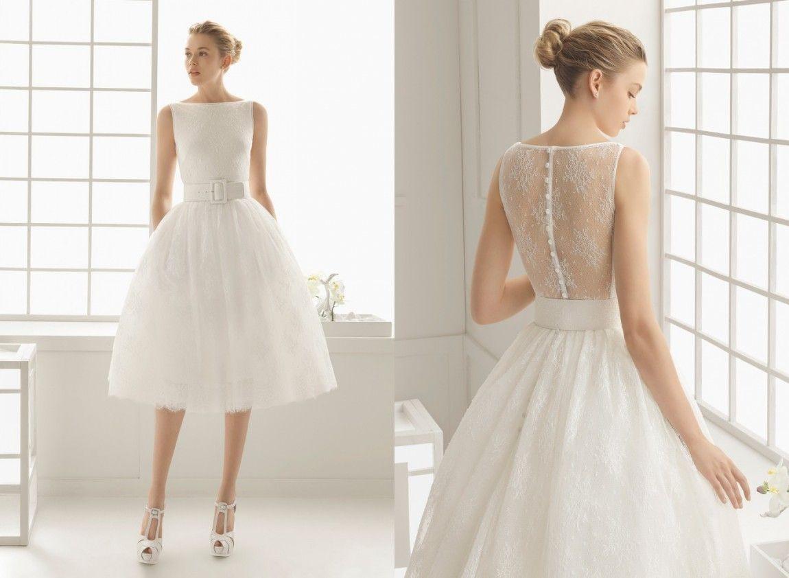 Discount 2019 Charming Short Wedding Dresses Simple Satin