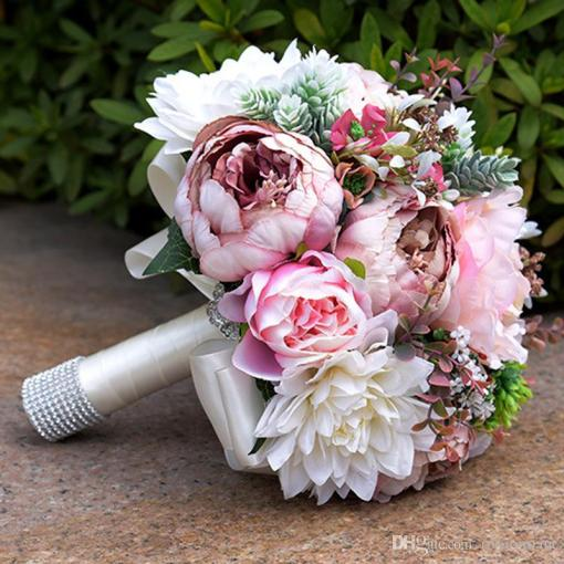 2017 Gorgeous Pink Real Touch Flowers Peony Bouquets For Wedding     2017 Gorgeous Pink Real Touch Flowers Peony Bouquets For Wedding Peonies  Bridal Bouquets Centerpieces Home Decoration Wedding Flowers Dublin Wedding  Flowers