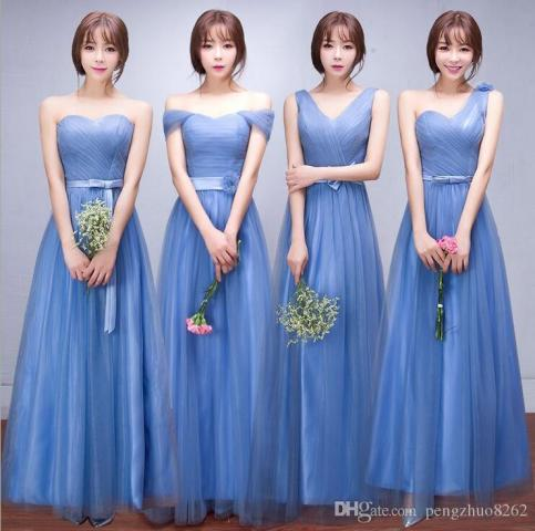 New Bridesmaid Dresses Long Sky Blue 2017 New Korean Bridesmaids     Welcome to my store  If u need any help   please contact us   we will offer  you the best service   best quality and fast shipping   thank you