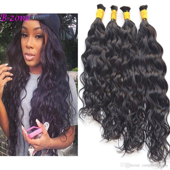 100% virgin brazilian water wave human hair bulk wet and wavy human hair for braiding 10 -28 full and soft