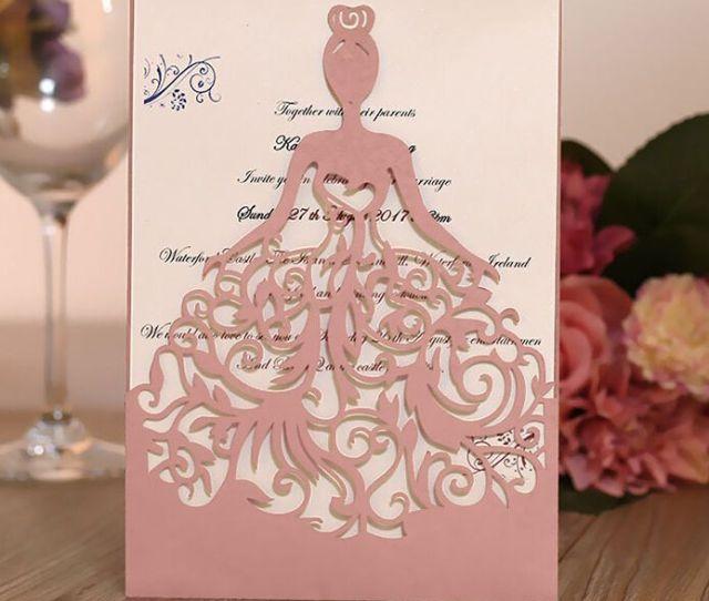 Creative Invitation Euler Wedding Fantastic Business Invitation Card Wedding Supplies Princess Girl Custom With Envelope Romatic Loving Bespoke Wedding