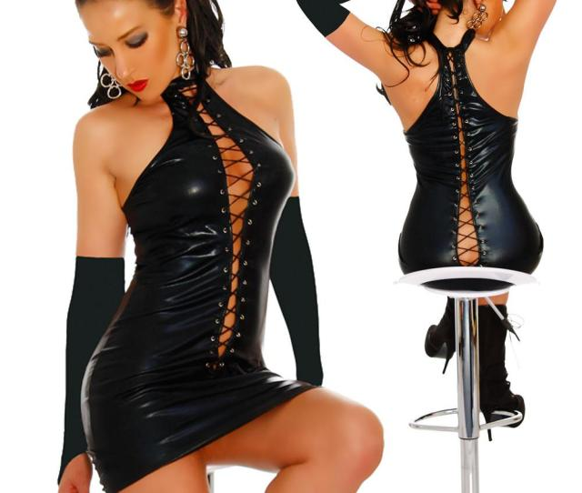 Sexy Lingerie Black Pvc Sexy O Rings Catsuit Clubwear Dress Outfits Fancy Dress 710 One Size S L Uk 2019 From Jeekwang Uk 15 48 Dhgate Uk