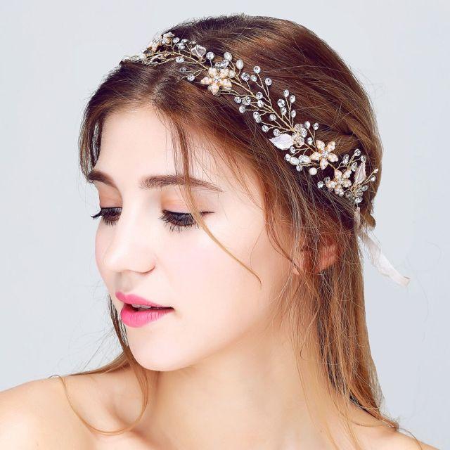 fairy bridal hair fascinators für hochzeiten 2018 high quality american european brides kopf stücke silber oder gold farbe strass / crystal