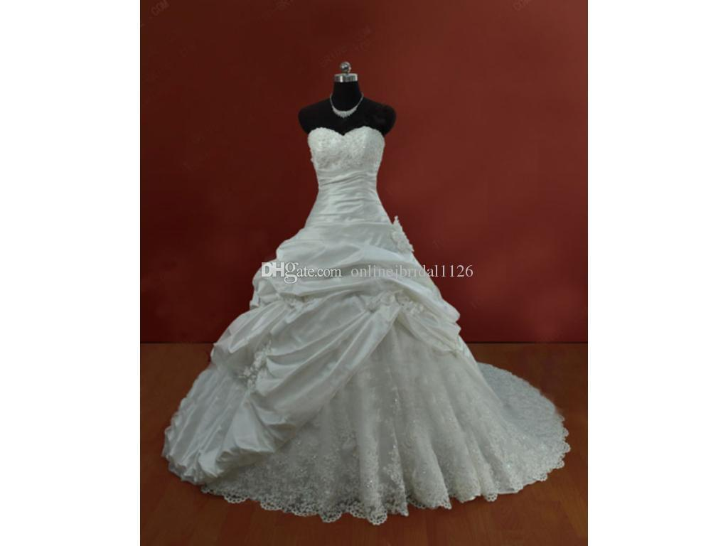 Dropped Waist Sweetheart Ball Gown Corset Back Taffeta COR