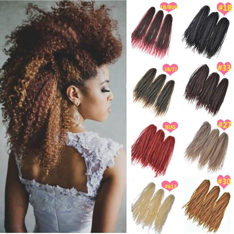 Crochet Marley Braids Hair Extensions Afro Kinky Ombre