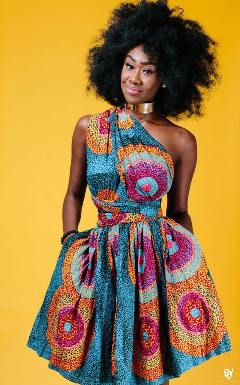 Dashiki Africa Bazin Riche Wax Print Dresses Sexy Summer ...