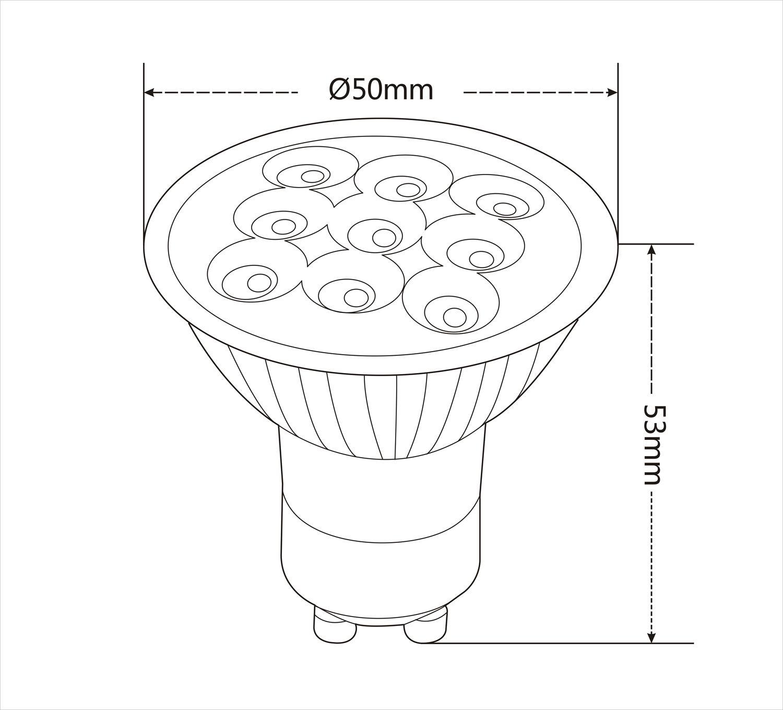 Mr16 Gu10 Led Bulbs 3w Led Spotlight 8 24v 9leds 220lm