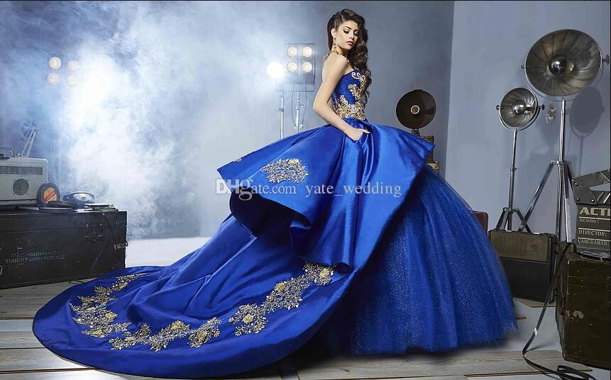 Royal Blue Ball Gown Quinceanera Dresses Sweetheart