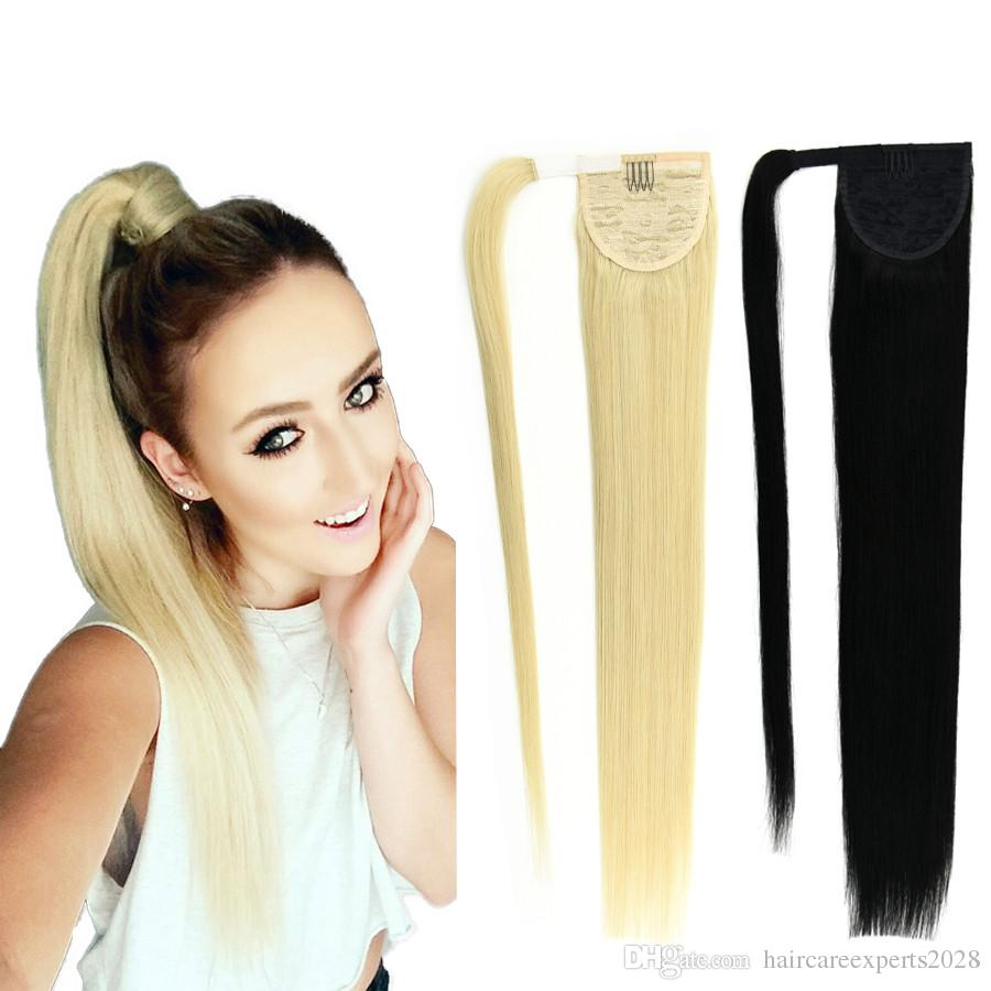 8a Ponytail Human Hair 120g Blonde 613 60 22brazilian