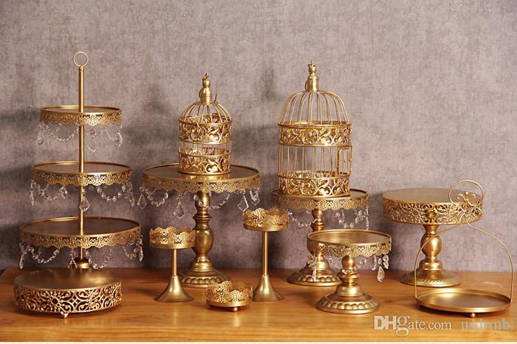 Best Gold Wedding Dessert Tray Cake Stand Cupcake Pan Party Supply     The price don t include the glass covers pls take attention because glass  covers are easy to be fraigiled for long term delivery  Gold Wedding