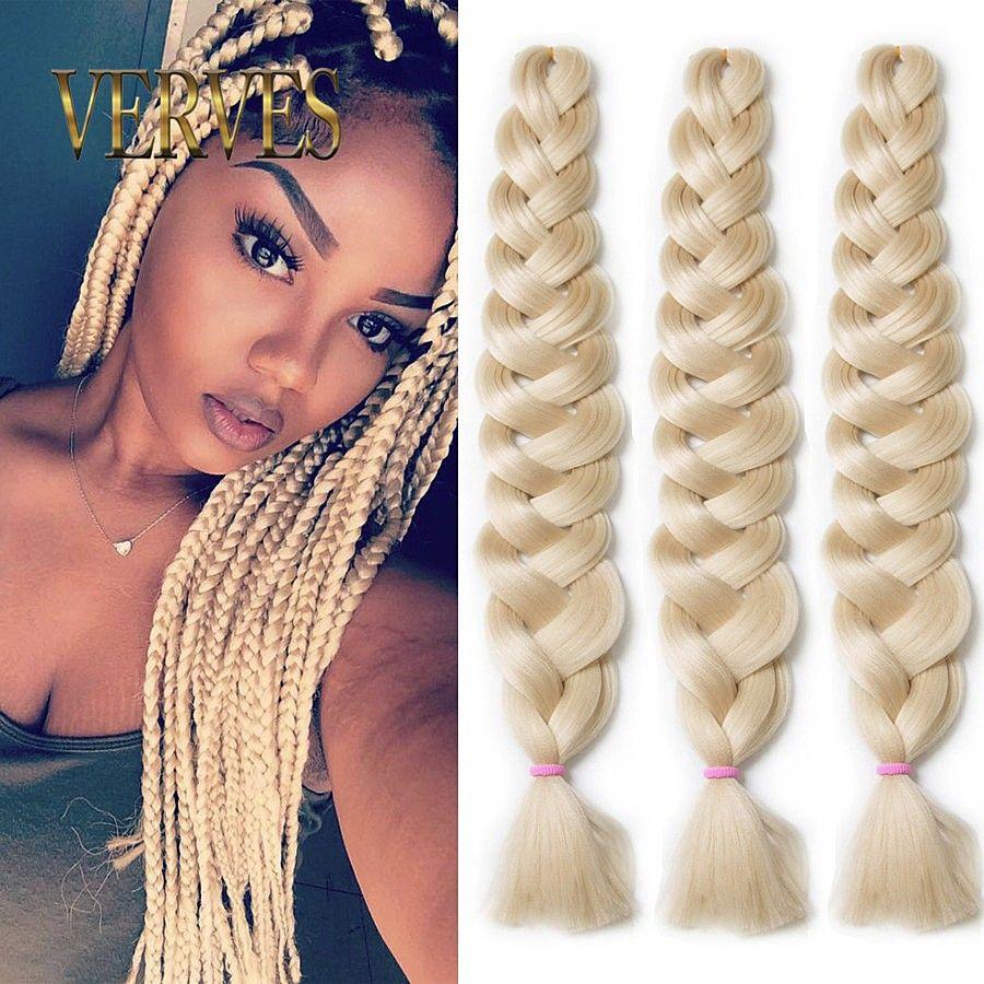 Verves Synthetic Braiding Hair Kanekalon 82 Inch 165gPcs
