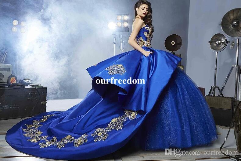 Royal Blue Quinceanera Dresses 2017 Sweetheart Beads Ball