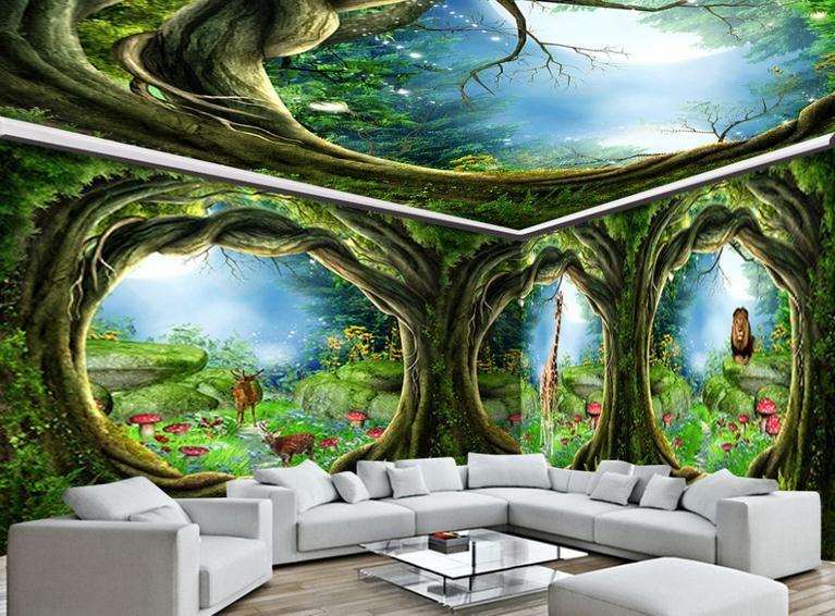 Großhandel 3D Wandbilder Tapete Benutzerdefinierte Bild Wandbild