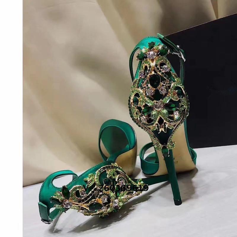 New Fashion 2017 GreenBlack Silk Women Crystal Wedding