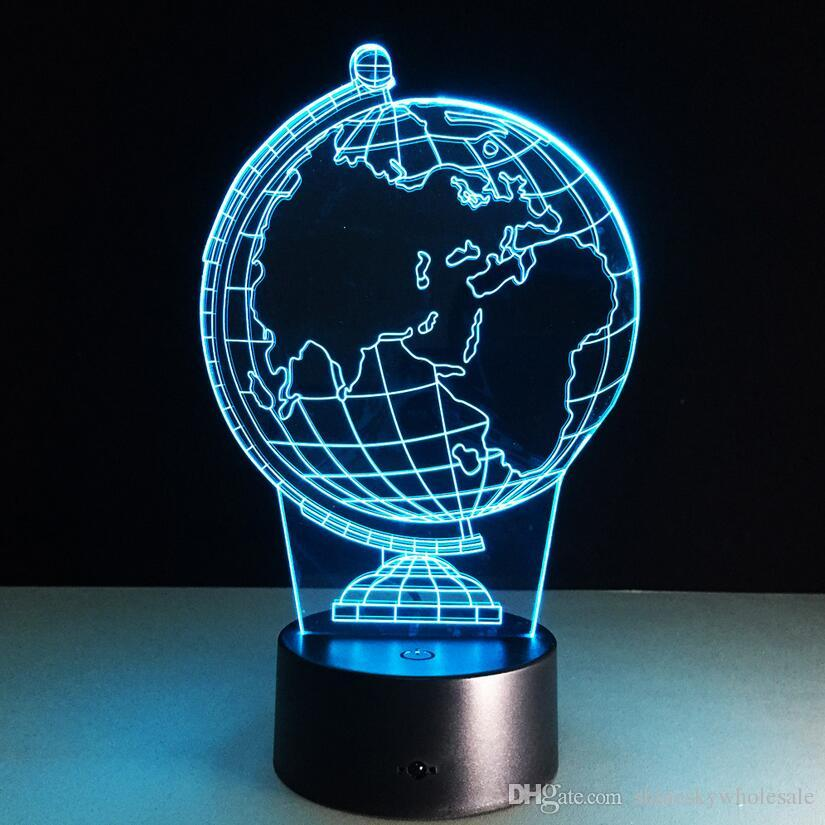 Creative Gift For Children 3D Globe Wold Map Shaped Decorative Night     Creative Gift For Children 3D Globe Wold Map Shaped Decorative Night Light  LED Flashing Bedside Table Lamp 3D Night Light LED Decorative Lamp Creative  Night