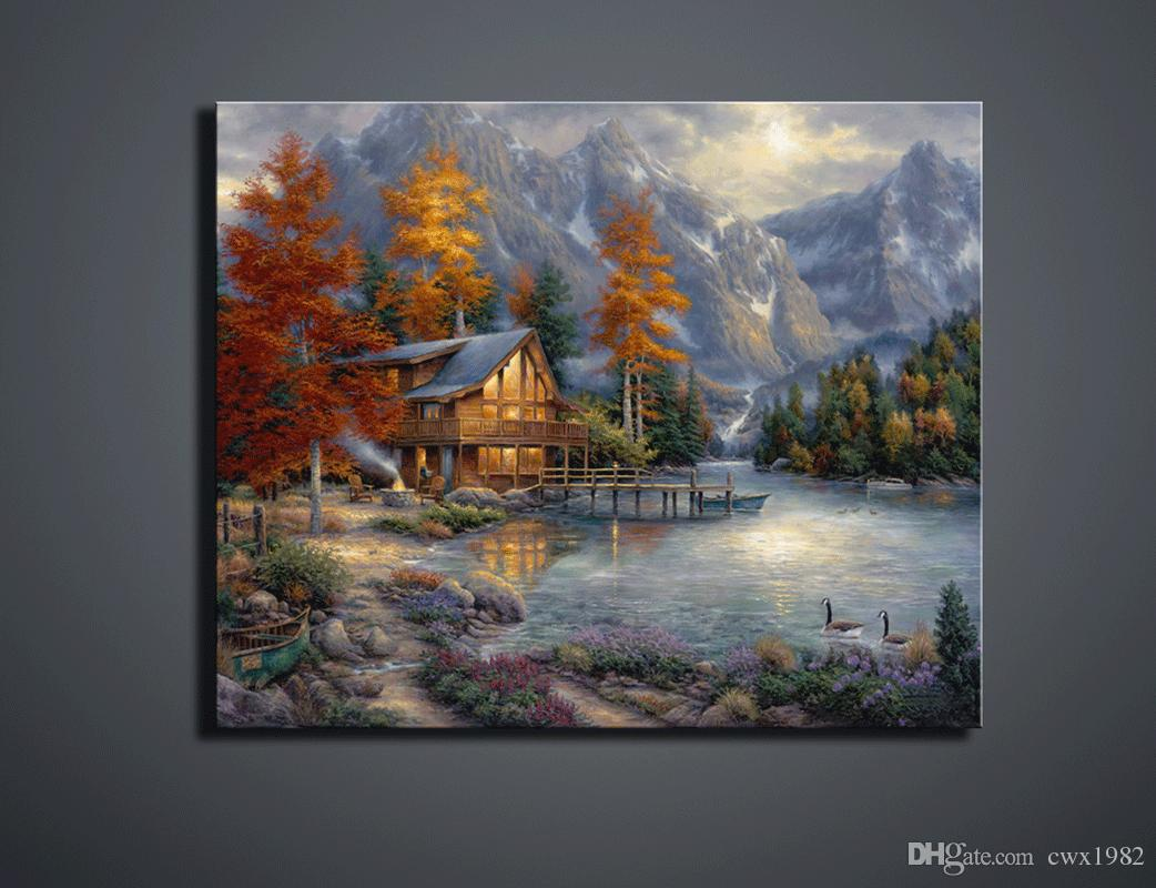 2019 Single Width Scenery High Definition Home Decoration