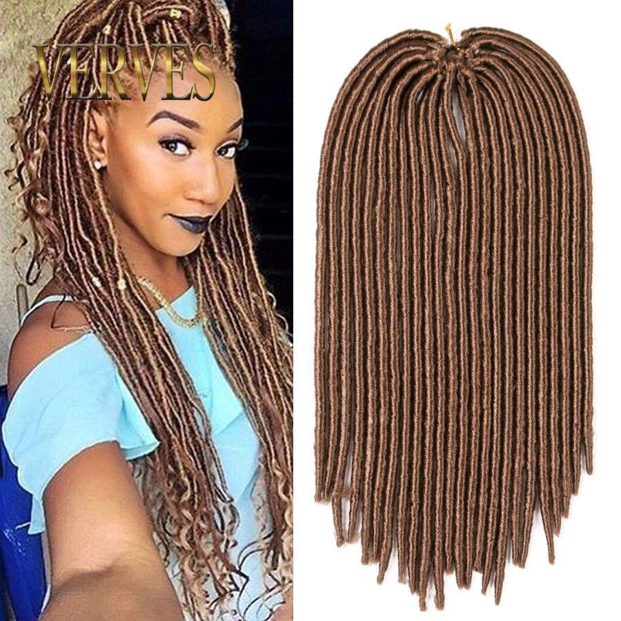 Verves Faux Locs Crochet Hair Mix Color Dreadlocks Braids