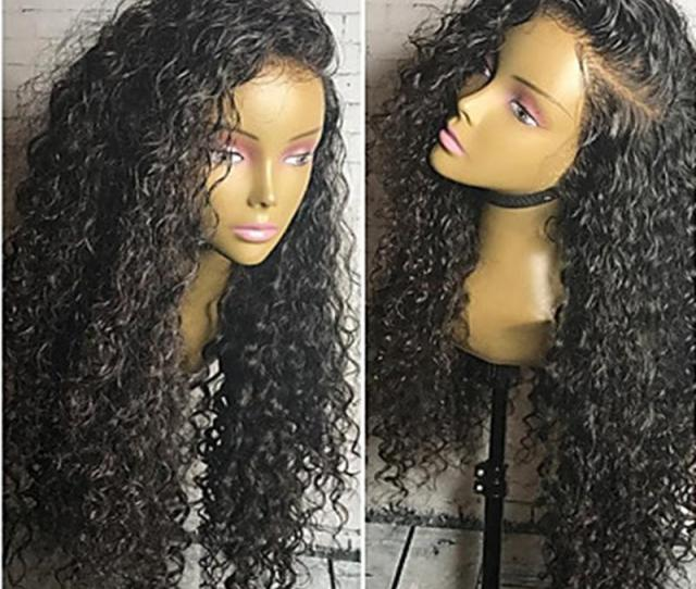 Wholesale Best Quality Black Long Kinky Curly Cheap Wigs With Baby Hair Heat Resistant Glueless Synthetic Lace Front Wigs For Black Women Hair Pieces Wigs