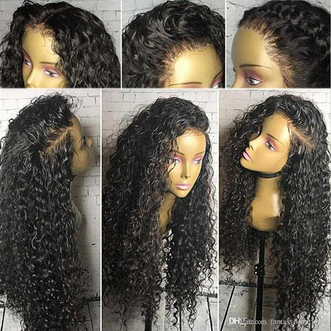360 lace wig 130% density curly full lace wig human hair for black women water wave 360 lace frontal human hair wigs