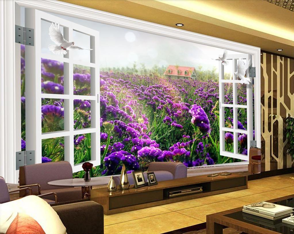 Großhandel Benutzerdefinierte Schalldichte Tapete Aus Dem Fenster 3D