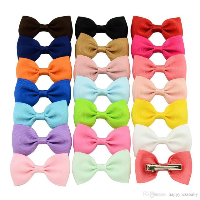2.8 inch girls hair clips baby bow hairpins grosgrain ribbon boutique bows hairgrips with alligator clips hair accessories barrette kh201
