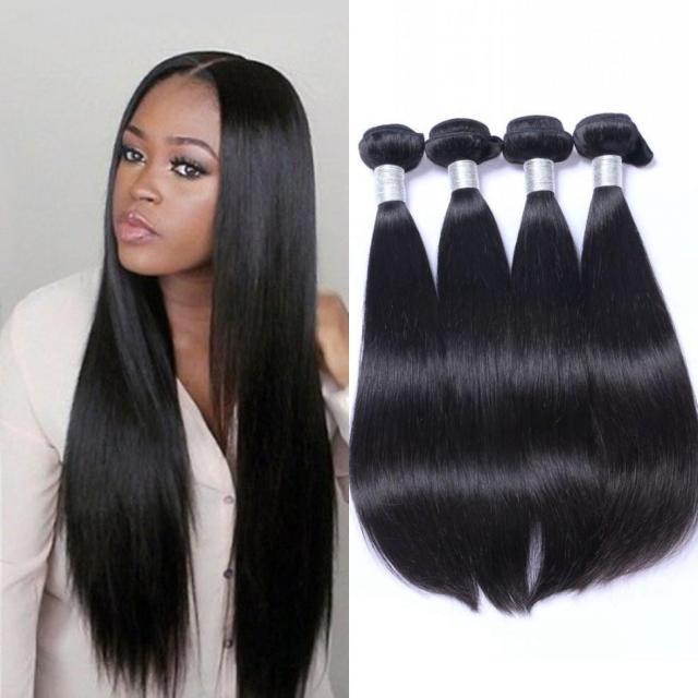 indian straight hair weave 4 bundles remy hair extensions 100% unverarbeitetes menschenhaar 8-30 zoll ping