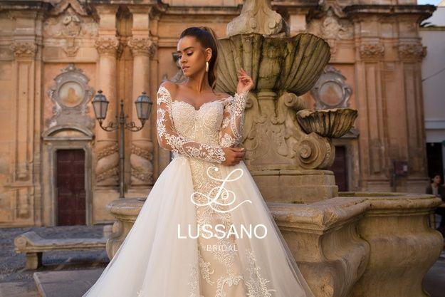 Lussano 2019 Mermaid Beach Wedding Dresses With Detachable