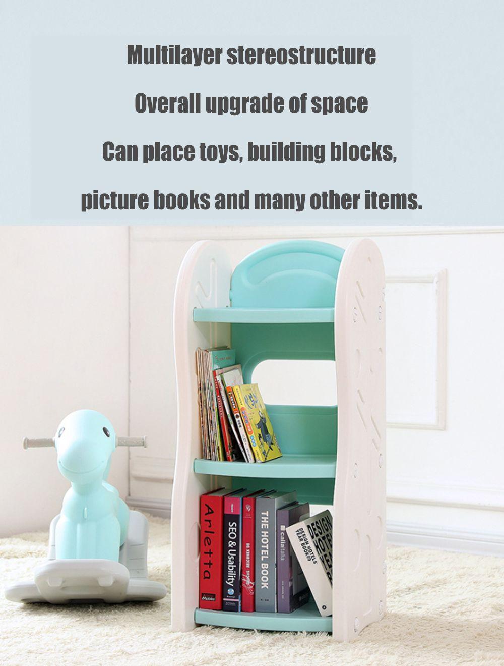 2019 Children Shelf Storage Box Simple Landing Rack Baby Multi Storey Bookcase Plastic Security Kindergarten Locker Children S Toy Shelves From