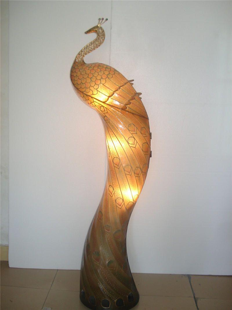 2019 110v 220v Voltage Peacock Floor Lamps E27 E12 Lamp
