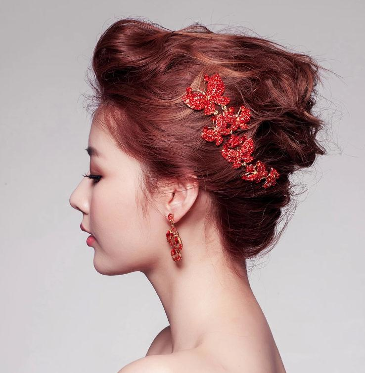 fashion new red 2015 bridal accessories hair accessories wedding dress swarovski crystalsbrilliant glamorous luxury bridal gown