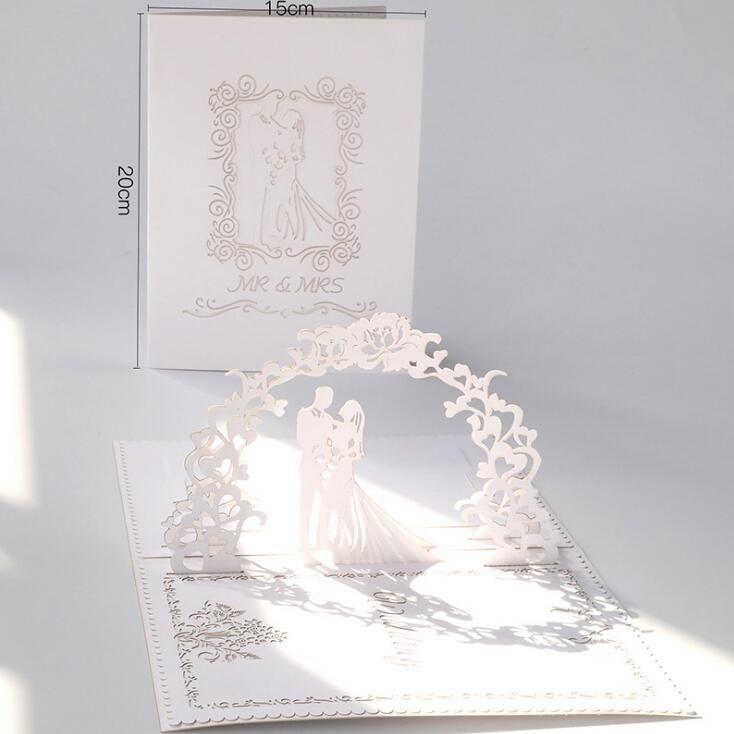 acheter nouveau laser cut invitations de mariage cartes pour fete de fiancailles de mariee cartes de voeux creux 3d out lettre dinvitation fournitures
