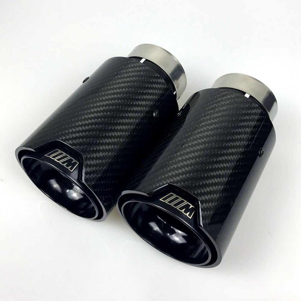 logo carbon fiber exhaust tips