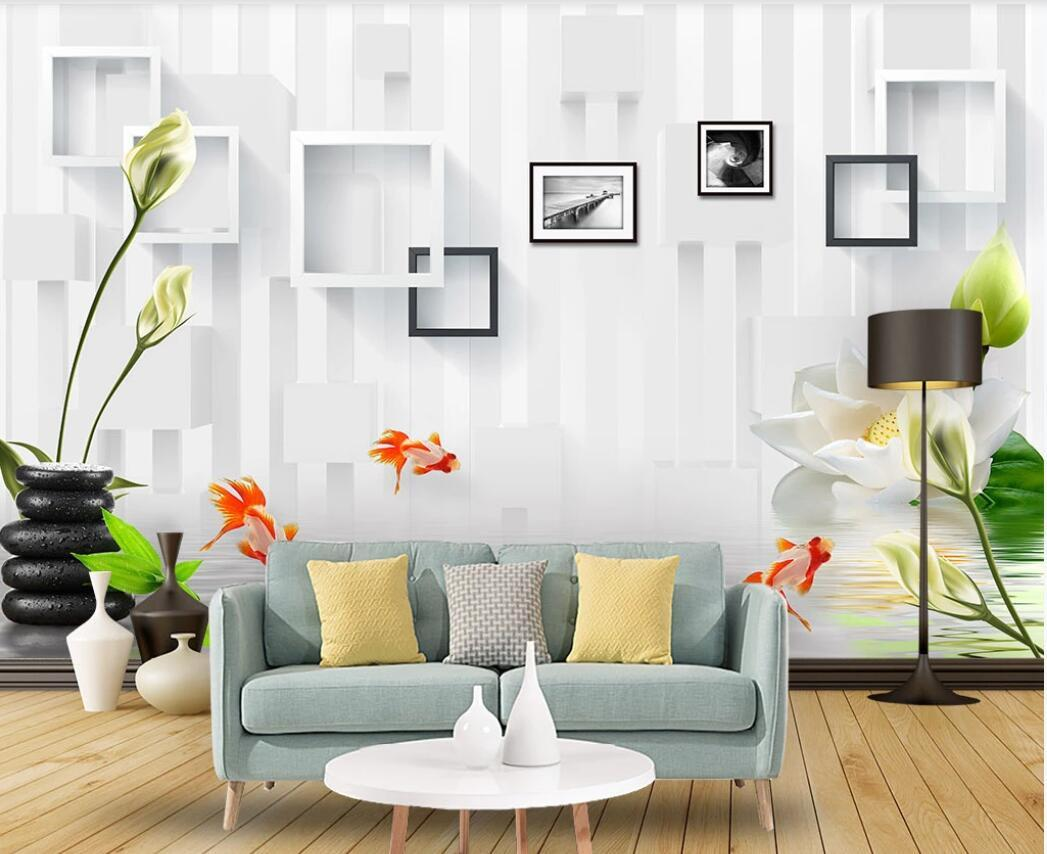 3d Wallpaper Custom Photo Mural Simple Lotus Picture Frame Art Tv Background Wall Wallpaper For Walls 3 D Desktop Background Hd Wallpaper Desktop Background Wallpaper From Wdbh1 14 64 Dhgate Com