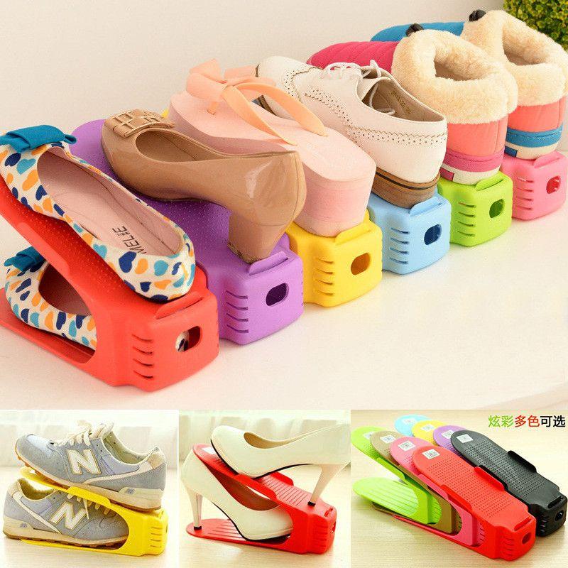 acheter double couche reglable chaussures organisateur reglable chaussures soutien fente espace saving cabinet closet chaussures de stand support de