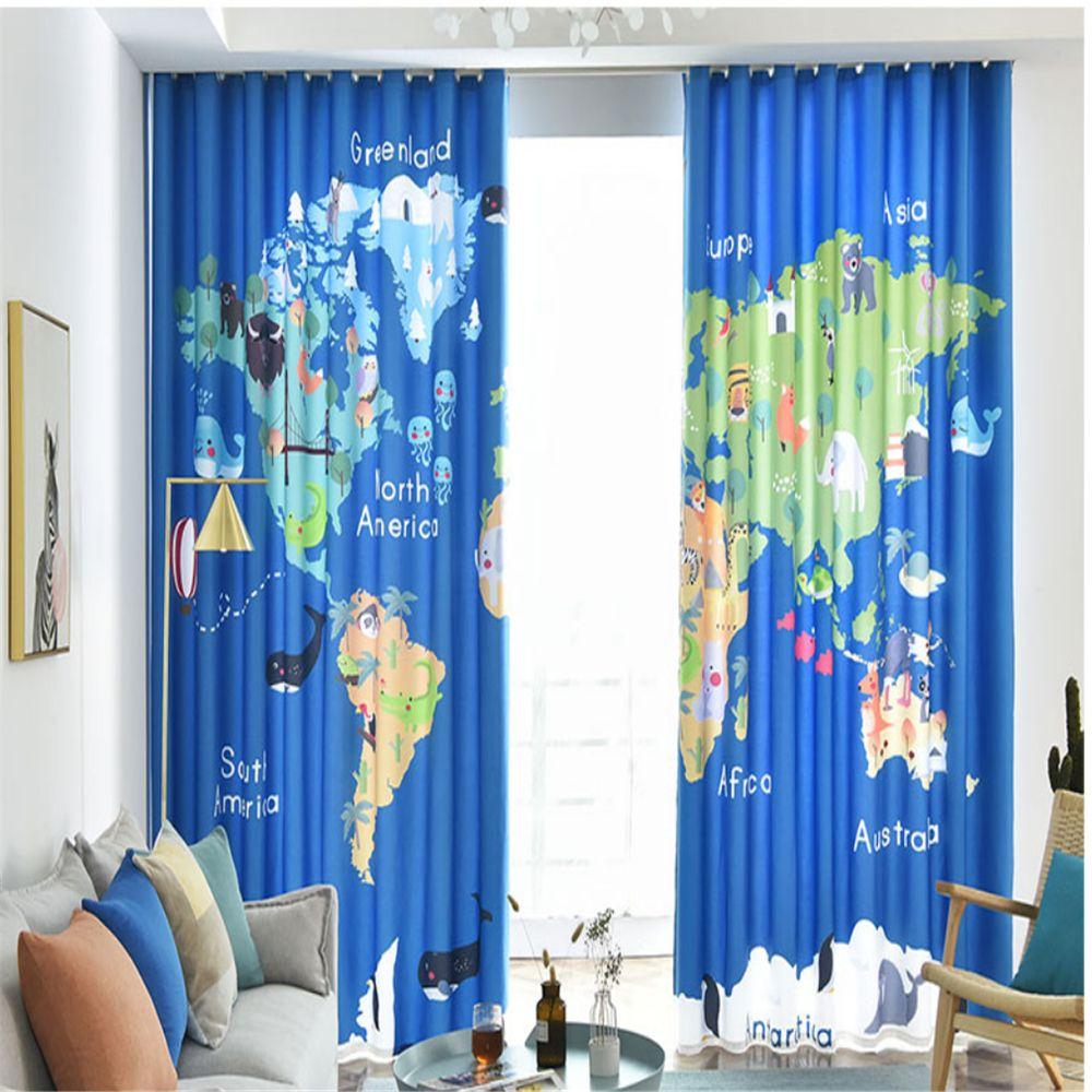acheter rideau nouvelle chambre enfant garcon chambre carte du monde mignon carte rideau occultant les rideaux de 162 62 du dhzhang20188