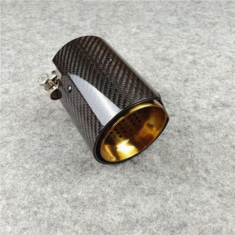 2021 carbon fiber glossy golden exhaust