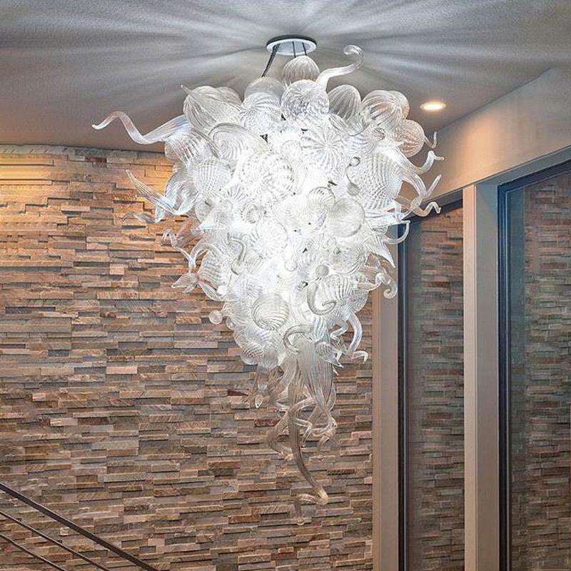 handmade blown glass chandelier