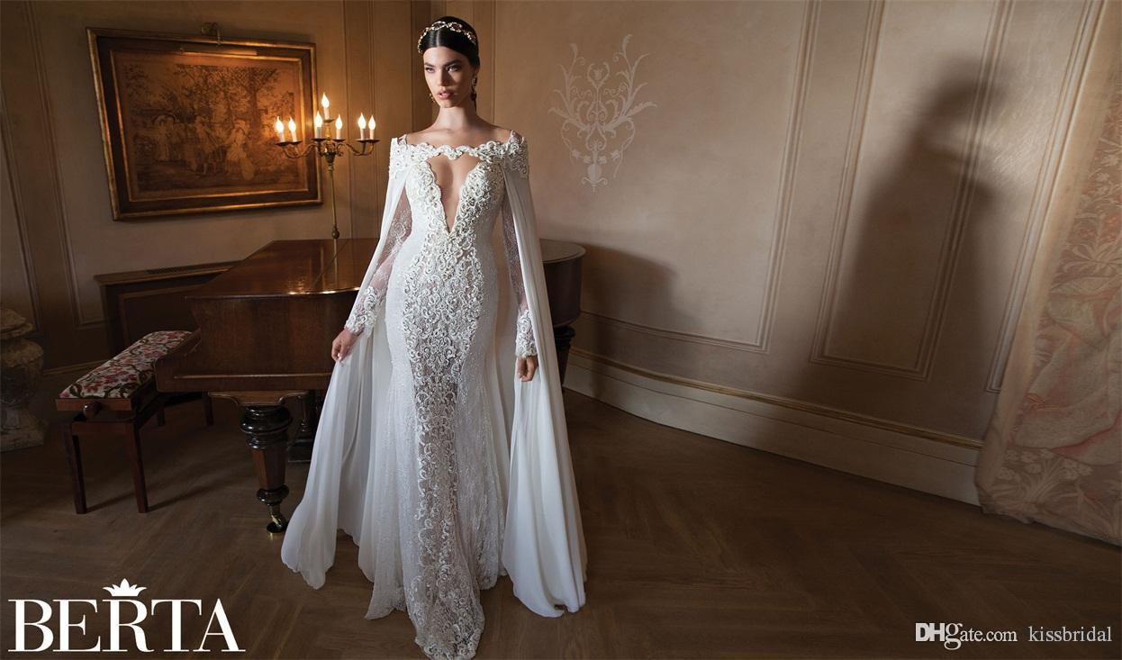 2016 Berta Real Photos Sexy Lace Mermaid Wedding Dresses