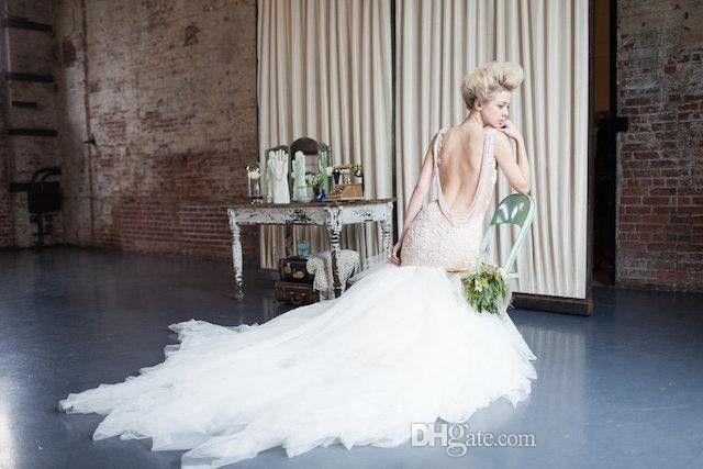 2017 Lace Wedding Dresses Mermaid Summer Spring Bridal