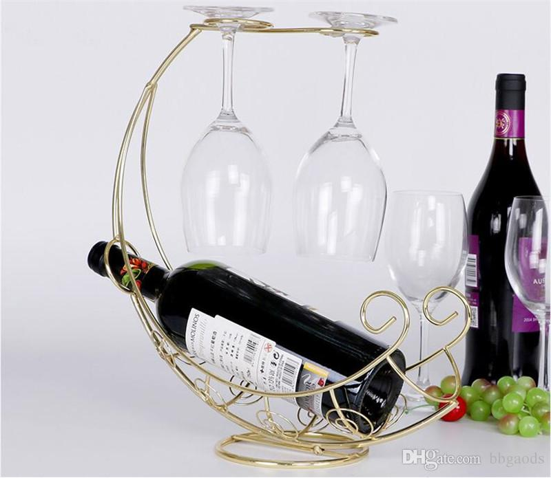 creative mode metal casier a vin suspendu vin porte verre pirate bateau forme bar vin