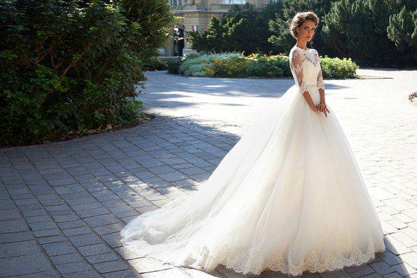 Vintage Lace Ball Gown Wedding Dresses 2016 Milla Nova