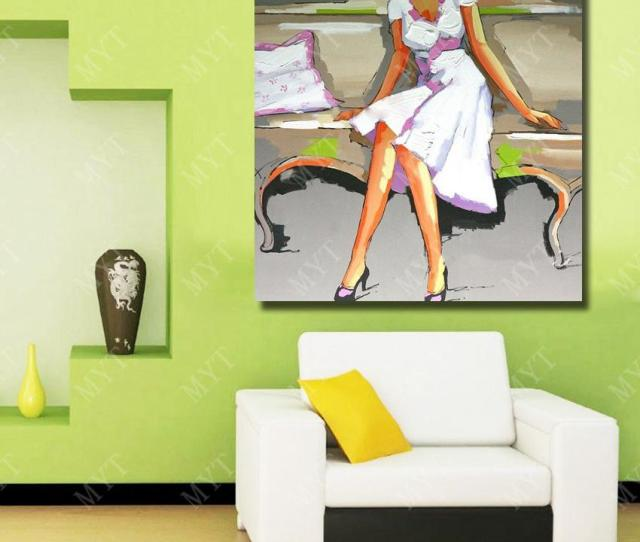Nice Dressing Open Hot Sexi Images For Girls Nude Figure Oil Painting Hand Painted 100 Canvas