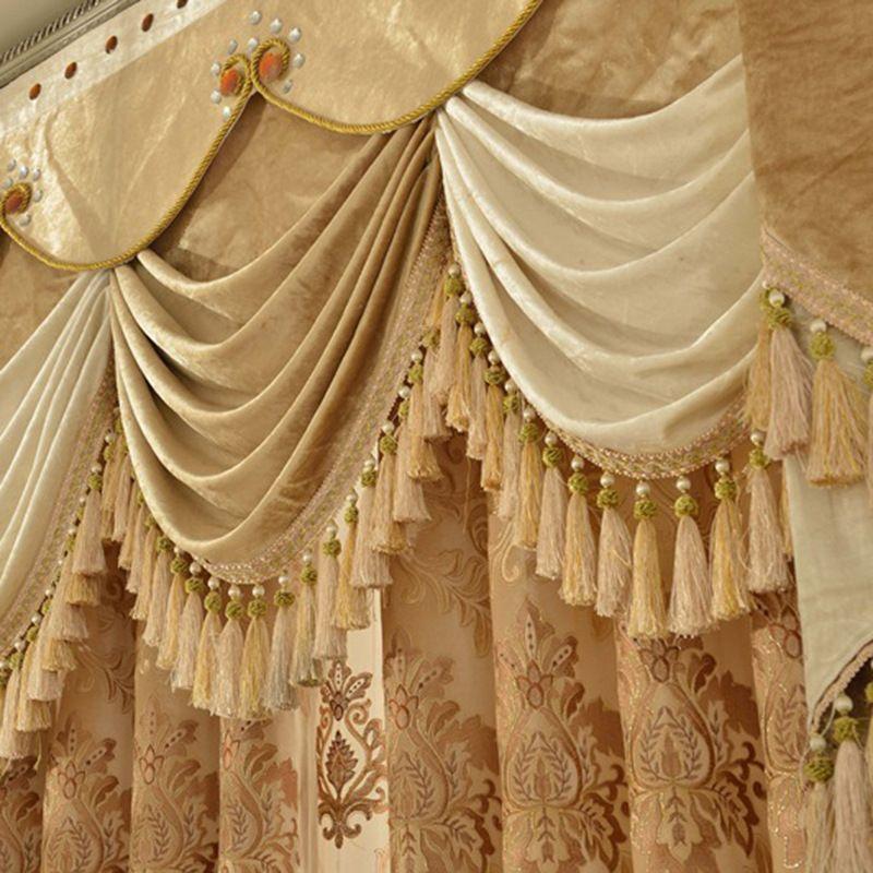 rideaux occidentaux de baie de rideau de luxe rideaux de broderie solubles d eau de
