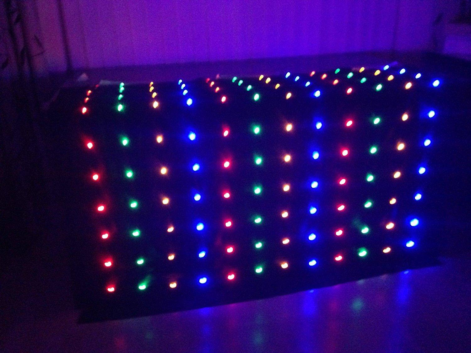 LED Star Curtain Wedding Stage Backdrop Cloth Black Stage