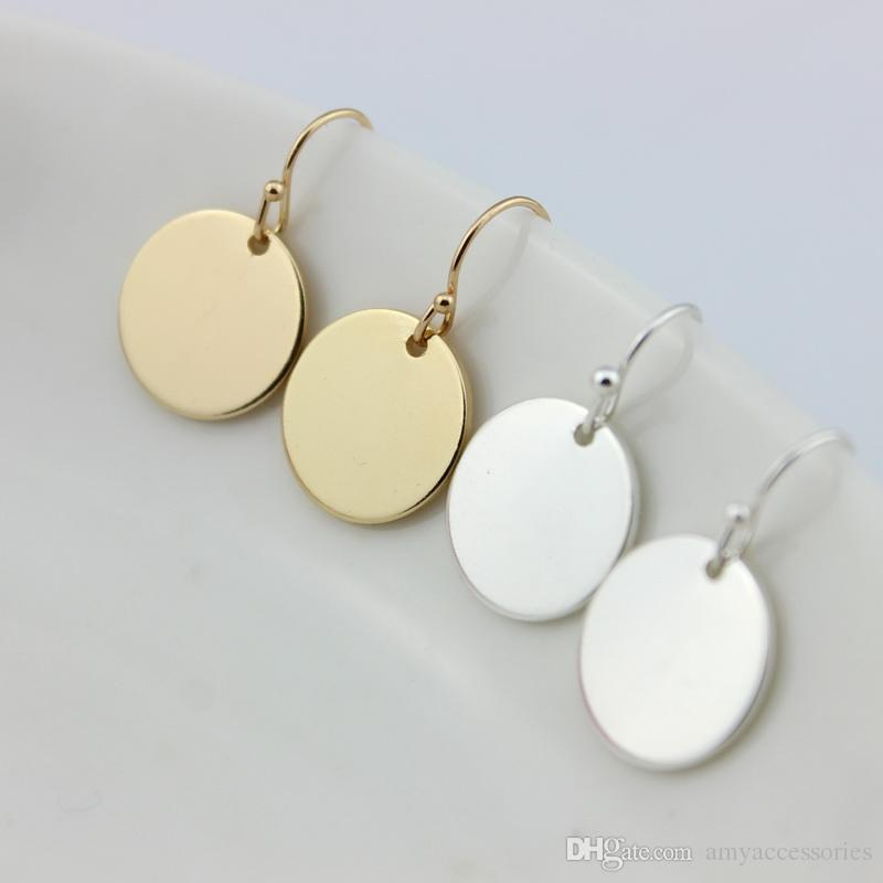 2018 2017 Hot New Fashion Disc Round Earrings For Women