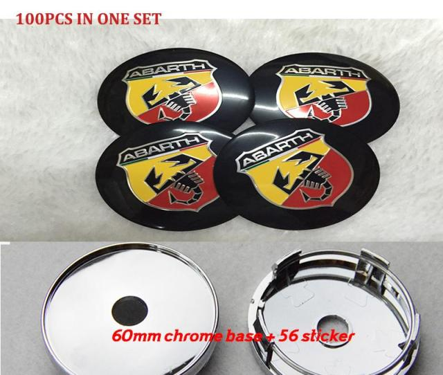 Practicality Car Emblem Wheel Center Caps For Fiat Abarth Mm  Inch Auto Wheel Center Covers