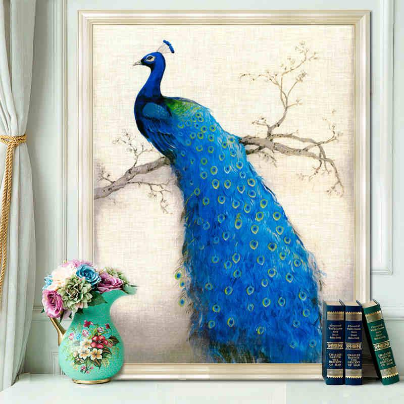 2019 Full Diamond Painting Diy Peacock Painting Home