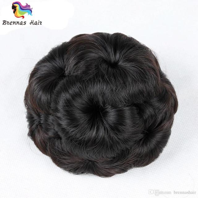 cheap bride hair chignon buns donut roller hair bun extension hairpieces 10*6cm clip-in jumbo braids synthetic hair chignon bun high-quality