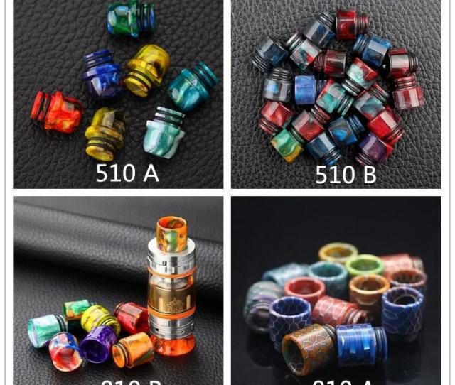 Top Quality 810 510 Honeycomb Cobra Vape Drip Tips Epoxy Resin Snake Skin Drip Tip Vape